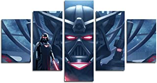 AtfArt 5 Piece Darth Vader Art Canvas Painting for Living Room Home Decor Canvas Art Wall Poster (No Frame) Unframed Mr-03