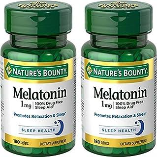 Nature's Bounty Melatonin 1 Milligram, 2 Packs of 180 Tablets