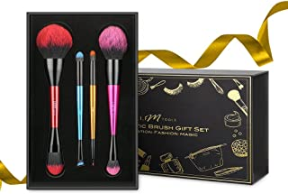 Makeup Brushes Set, IFM TOOLS Double Ended Cosmetic Brush Kit with Organizer Holder Case