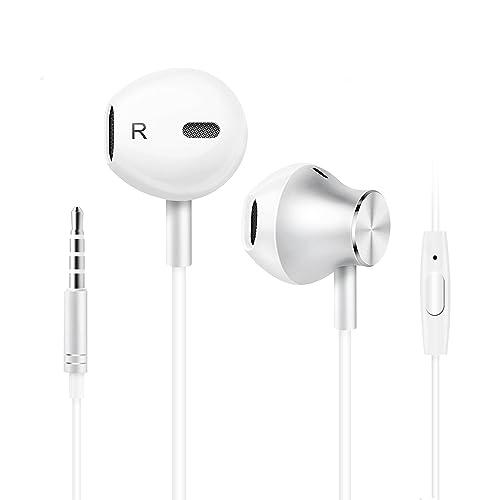 Auriculares In-Ear Auriculares con Microfono, Auriculares Cable, Cancelación de Ruido Auriculares Sonido
