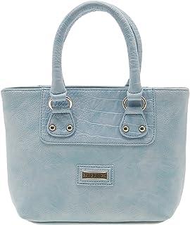 ESBEDA Light Blue Solid Pu Synthetic Material Handbag For Women