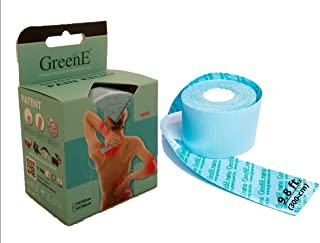 GreenE Pain Relief Tape, 9.8-ft Bulk-Roll, 4-Way-Stretch, True-Kinesio-Therapeutic, Bio Far-Infrared, 36-HR...