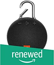 (Renewed) JBL Clip 3 Ultra-Portable Wireless Bluetooth Speaker with Mic (Black)
