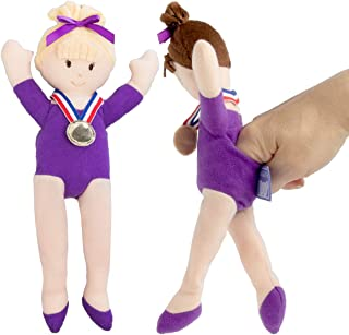 North American Bear Company (2 Piece) Doll Gymnastics Finger Puppets for Kids Adults Plush Toys Cute
