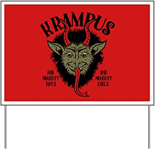 CafePress Krampus Face Naughty Yard Sign, Vinyl Lawn Sign, Political Election Sign
