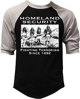 Homeland Security Fighting Terrorism Since 1492 Men's Baseball T-Shirt Gray/Black