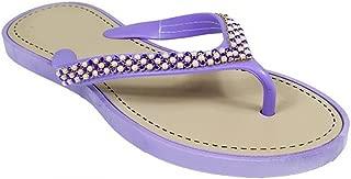 Beaded Pearl Embellished Thong Flat Flip Flop Sandals