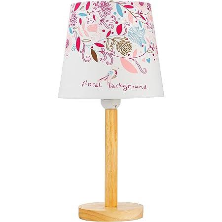 Pauleen 48045 Cute Flower Max.20W luminaire à Poser E27 Lampe Chambre d'enfant Fleurs Rose Tissu/Bois sans Ampoule, Métal, Blanc, Multicolore