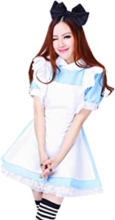 Treasure-box Blue Maid Dress Lolita Maid Cosplay Costume