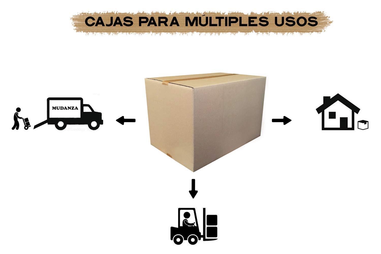 Cajeando | Pack de 20 Cajas de Cartón de Canal Simple | Tamaño 57 ...