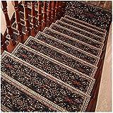 10 unids Escalera alfombra colchones escaleras estera, alfombra Escaleras antideslizantes Cojín Protectores de escalera de interior, esteras de paso de patrón europeo para la escalera de piso escalera