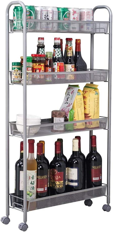 RMJAI Storage Racks 4-Shelf Shelving Unit,Kitchen Shelves,Kitchen Storage Racks,for Living Rooms, Kitchen, Garage,Office Etc