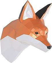 ENDARK Trofeo de Papel de Zorro, Kit de Animales de Origami, Cabeza de Animal DIY Papercraft 3D Montado en la Pared