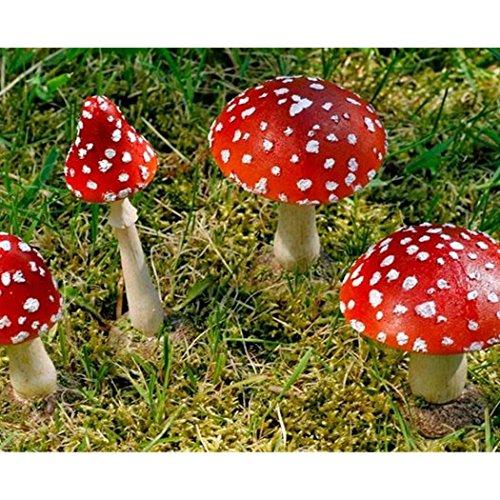 Boltze Rote Runde Fliegenpilz, Garten Deko aus Kunstharz