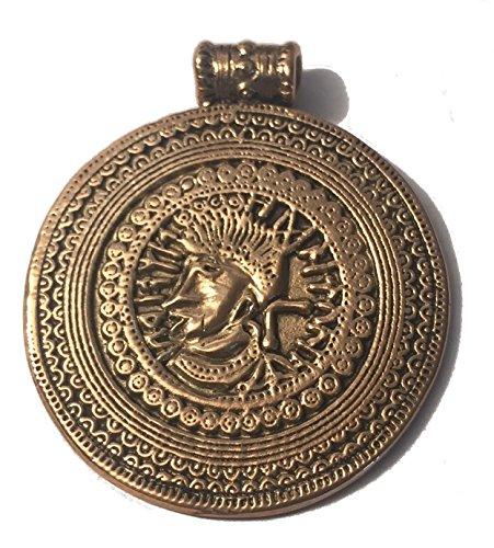 Runenbrakteat von JÜTLAND Anhänger (Kettenanhänger in Goldbronze)