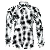 Kayhan Hombre Camisa Slim fit, Oktoberfest Black XXL