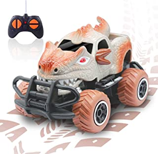 Boys Toys for 3 Years Old Kids Dinosaur Remote Control Car,Dino Jurassic Park Trucks for 4-5 Years Old Boys RC Race Cars f...