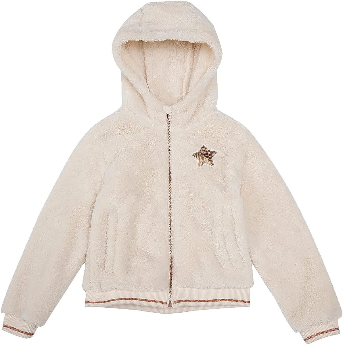 Rokka&Rolla Girl's Sherpa Fleece Full-Zip Fuzzy Jacket