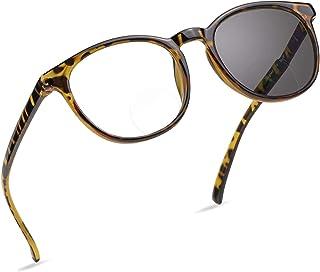 Progressieve multifocale leesbril, Transition Photochromic zonnebril Lezers Lichtgewicht Ronde Frame UV-bescherming Anti G...