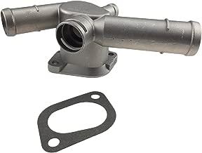 Aluminium Alloy Thermostat Housing Coolant Hose Flange Radiator for VW Golf Jetta 2.0 L4 99-06 06A121133D