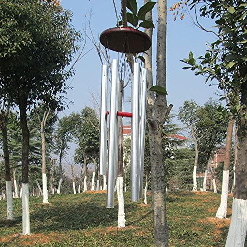 vindspel 1 st antik fantastisk nåd djup resonant 6 rör koppar vindspel kapell klockor vindspel hängande heminredning boj klocka vindspel (färg: 3)