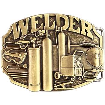 New Vintage Bronze Plated Welder Trades Tradesman Belt Buckle US Stock