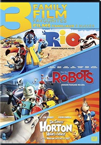 3-Family Film Favourites (Rio / Robots / Dr. Seuss Horton Hears a Who)