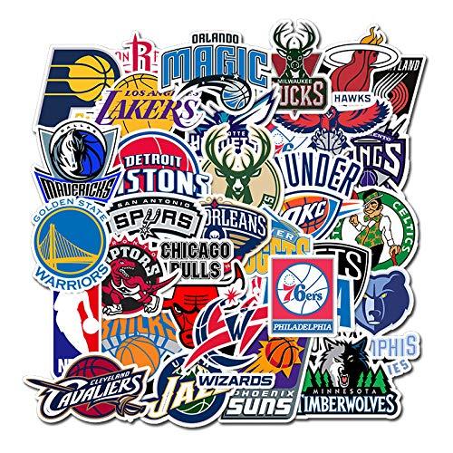 ZNMSB 32 Logotipo del Equipo de Baloncesto Graffiti, Maleta para computadora, Casco, Taza de Agua, Guitarra, monopatín, Pegatinas Decorativas DIY a Prueba de Agua