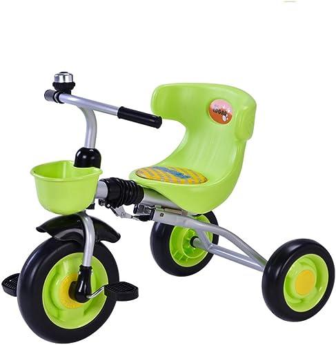 venta al por mayor barato Niños Triciclos Bicicletas Trolley Niños Plegables Bicicletas 1-3 años Los Los Los Niños comienzan a Aprender Bicicletas (Color   verde)  oferta de tienda