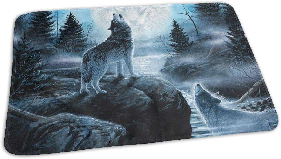 UAJAR Howling Moon discount Wolf Baby Changing Pad Portabl Reusable Cover Year-end gift
