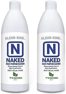KLEAR-KINE Naked Glass Cleaner   Clay Based Formula   420 & 710 Remover   470ml Bottle   2 Pack