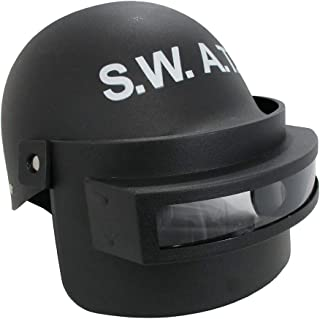 Adult Child Police SWAT Team Helmet Folding Face Mask Combat Tactical Costume