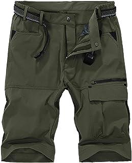 Kolongvangie ショートパンツ メンズ ハーフパンツ 通気 吸汗速乾 カーゴ イージーパンツ ー アウトドア 軽量 登山 半ズボン