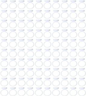 Minkissy 100Pcs Lash Lijm Houder Wimper Lijm Ring Kopjes Quick Blossom Lash Extension Rings Adhesive Pigment Houders Vinge...