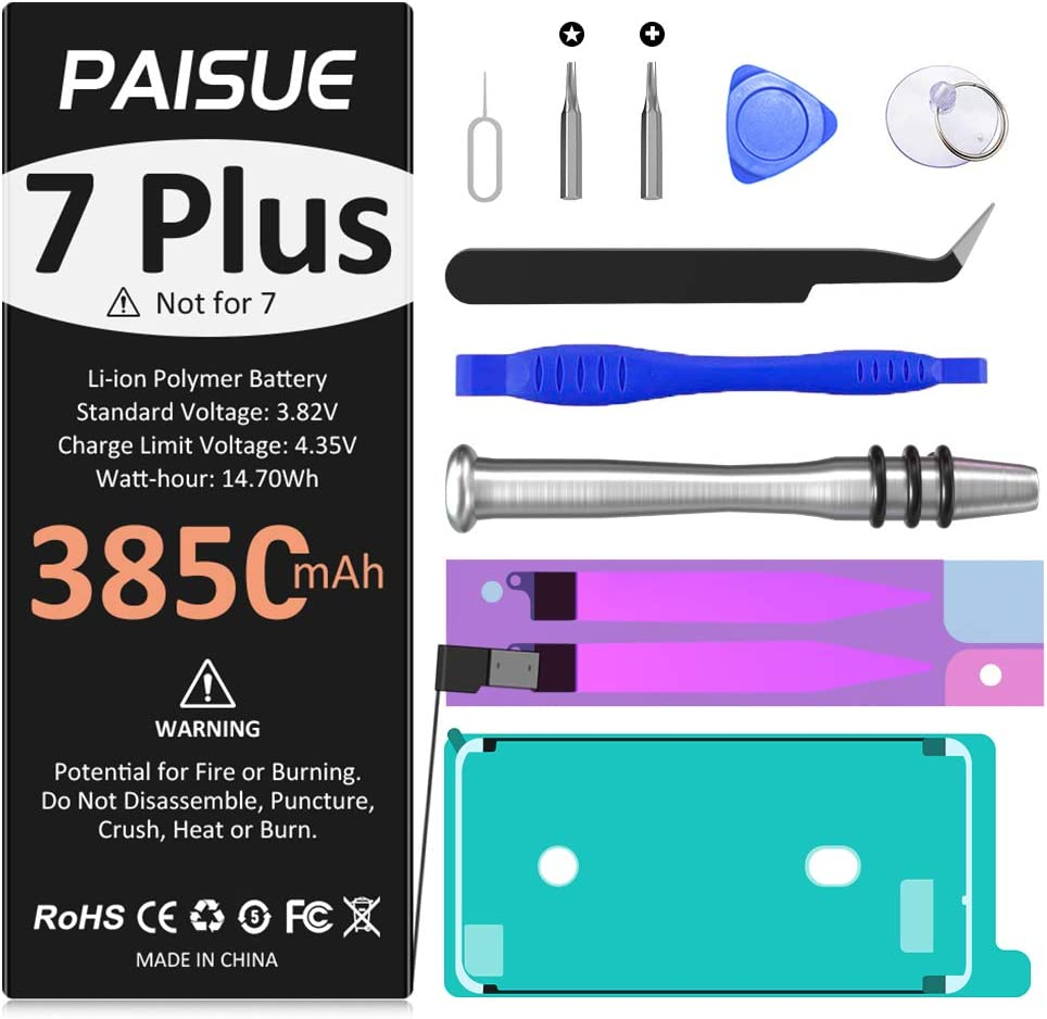 Battery for Super-cheap iPhone 7 Plus Replacement 3850mAh PAISUE fo 5 popular