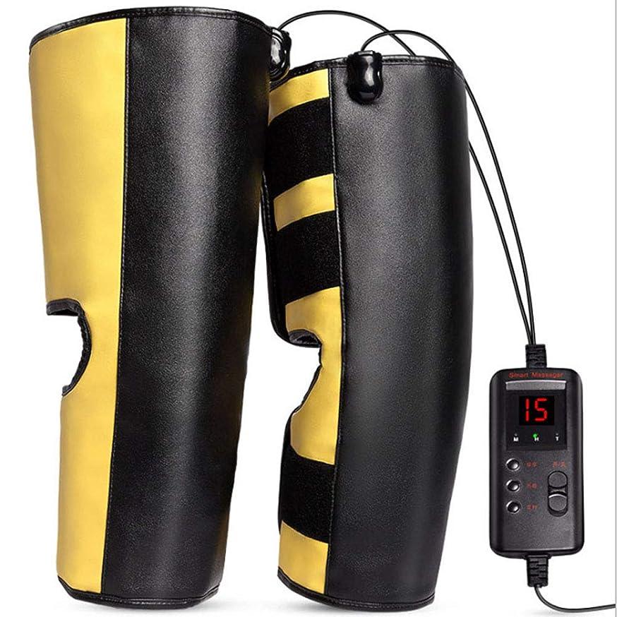 全くカリングアフリカ人電気加熱膝パッド、振動マッサージのアキュポイントと灸機能、振動モードを調整することができます救済脚関節炎の痛み(ペア)
