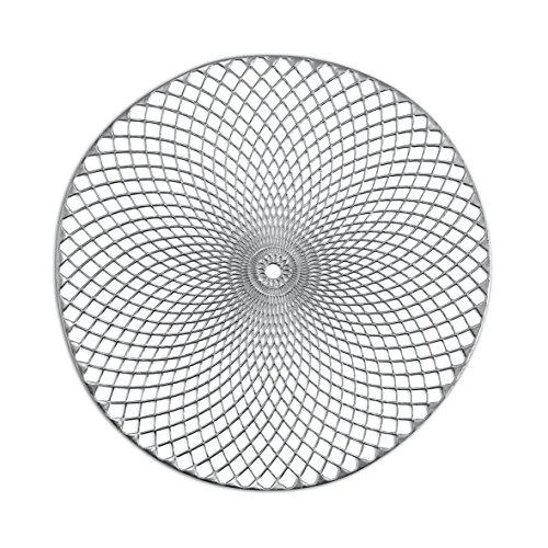 Zeller Set de Table en PVC, argenté, 38 cm