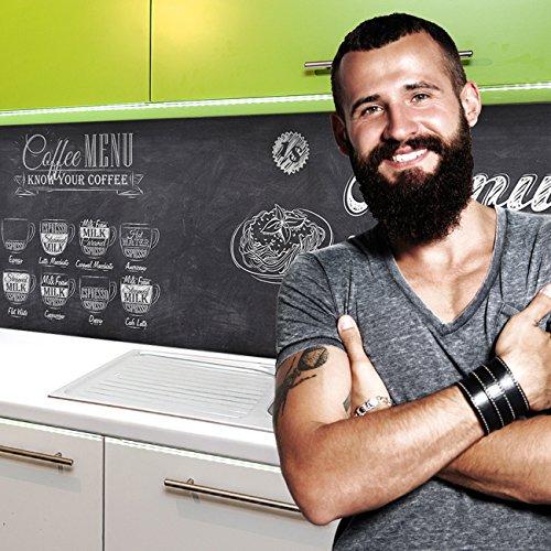 StickerProfis Küchenrückwand selbstklebend Pro Bistro MENU 60 x 60cm DIY - Do It Yourself PVC Spritzschutz
