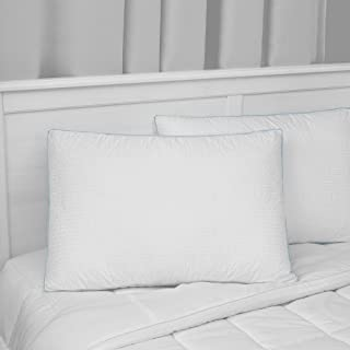 SensorPEDIC Signature Gusseted Fiberfill Bed Pillow with Luxury Cotton Cover, Jumbo, White 2 Count