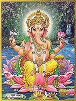 インドシヴァガネーシャ象の神の宗教 大人のためのDIYダイヤモンドペインティングキット、5Dフルラウンドドリルダイヤモンドペインティングキット刺繡芸術家の装飾 40X50cm