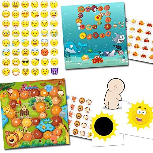 Potje training met 2 beloningssystemen aquarium + dierentuin / 1 x effect sticker zon / 48 Smileys
