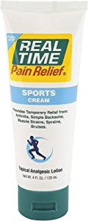 Real Time Pain Relief Sports Cream, 4 Ounce Tube
