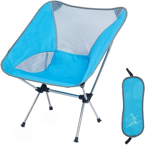 Qiuoorsqurp Outdoor Camping Klappstuhl Angeln Stuhl, gebogene Rückenlehne Design, fit  kurve, integrierte Formteile aus Hartplastik, stark und stabil, Camping Grill, Luftfahrt Aluminium Stuhl ult