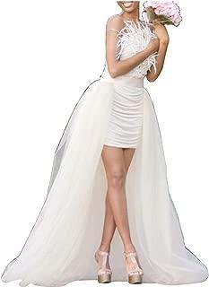 Sexy Women's Mesh 4 Layers Overlay Long Tulle Skirt Floor Length Wedding Party Tutu Skirt Party Train Overskirt
