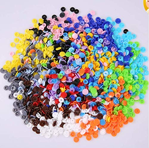 Save %20 Now! CoCocina 20 Color DIY Clothes T5 Plastic Fasteners Snap/Prong Ring Fastener Snap/Metal...