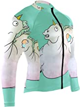 Ladninag Frogs Mens Cycling Jersey Coat Full Sleeve Mountain Cycle Apparel Outfit