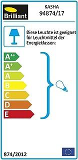 Brilliant AG 94874/17 Lampe à Poser, Métal, E14, 40 W, Chromé/Rouge