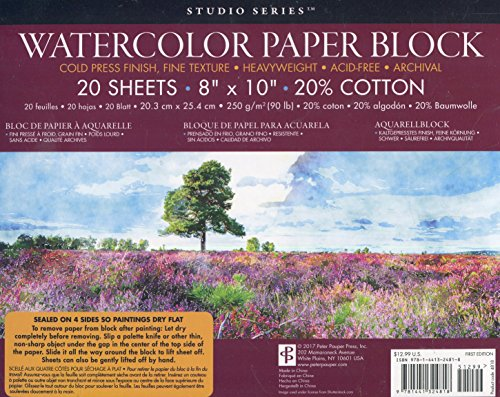 Studio Series Watercolor Block (250 GSM, 90LB, COLD PRESS)