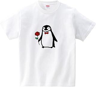 [itaxes] おめかしヒゲペンギン(Tシャツ・ホワイト) (あおまんぼう)