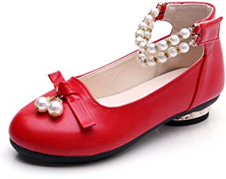 Round-Toe Pearl Bowknot Ballet Ballerina Flat Princess Wedding Shoes Mary Janes